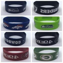 1  NFL Football Silicone Wristband Bracelets Choose Your Tea