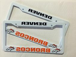 2 BRONCOS License Plate Frame NEW Auto Truck FREE SHIPPING D