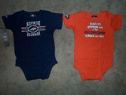 Denver Broncos 2-PIECE nfl INFANT BABY NEWBORN Jersey Shirt