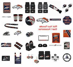 Brand New NFL Denver Broncos Pick Your Gear / Accessories Of