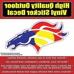 Denver Broncos Colorado Flag Vinyl Car Window Laptop Bumper