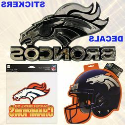 Buy 1 Get 1 50% Off   NFL Denver Broncos Sticker Decal & Tat