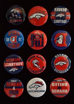 """Denver Broncos - 1 1/2"""" Inch Magnet Set  -"""