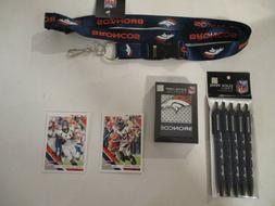 DENVER BRONCOS #1 FAN PACK SET OF 5 PENS  PLAYING CARDS  BLU