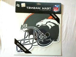 """Denver Broncos 12"""" Helmet Car Magnet NFL Licensed Vinyl Auto"""