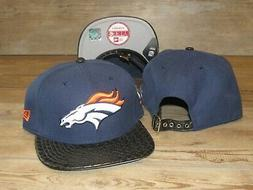 Denver Broncos New Era 9Fifty Faux Leather Belted Strapback