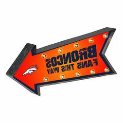 Denver Broncos Arrow Marquee Sign - Light Up - Room Bar Deco