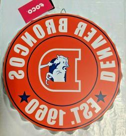 Denver Broncos Bottle Cap Sign - Est 1960 - Room Bar Decor N