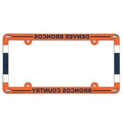 DENVER BRONCOS COUNTRY ~  NFL Plastic License Plate Frame Co