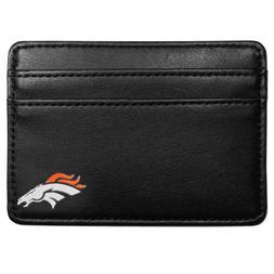 Denver Broncos Credit Card Holder Leather Wallet NFL Footbal