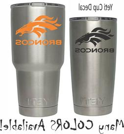 denver broncos decal for nfl yeti tumbler