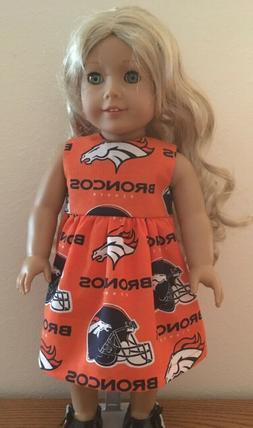 Denver Broncos Dress for 18 Inch American Girl Doll FREE SHI
