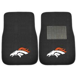 Denver Broncos 2 Piece Embroidered Car Auto Floor Mats