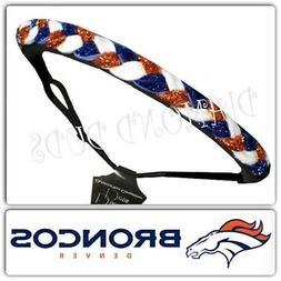 Denver Broncos Football colors Bling Womens sparkley braided