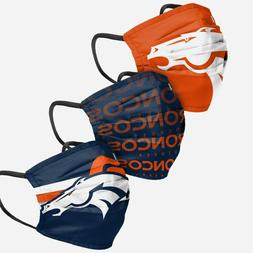 Denver Broncos Football NFL 3 Pack Matchday Fan Mask Face Co