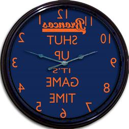 Denver Broncos Football Wall Clock NFL Man Cave Shut Up It's