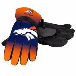 Denver Broncos Gloves Big Logo Gradient Insulated Winter NEW