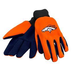 Denver Broncos Gloves Sports Logo Utility Work Garden NEW Co