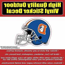 Denver Broncos Helmet Vinyl Car Window Laptop Bumper Sticker