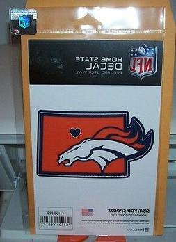 DENVER BRONCOS HOME STATE DECAL PEEL AND STICK VINYL STICKER