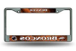 Denver Broncos LBL Jersey Design Metal Chrome Frame License