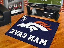 Denver Broncos Man Cave Area Rug Choose Starter, Allstar, Ta