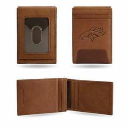 Denver Broncos - NFL - Brown Leather Money Clip Front Pocket