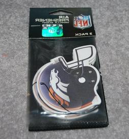 DENVER BRONCOS NFL FOOTBALL 3-PACK AIR FRESHENER VANILLA SCE