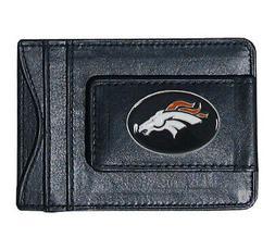 Denver Broncos NFL Football Team Leather Card Holder Money C