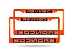 Denver Broncos NFL  Orange Metal Laser Cut License Plate Fra