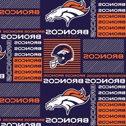 """Denver Broncos NFL Valance Curtains/Panels Choose: 40"""", 52"""","""