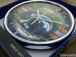 denver broncos nfl wall clock 12 wincraft