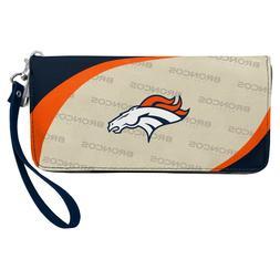 Denver Broncos NFL Women's Curve Zip Organizer Wallet / Purs