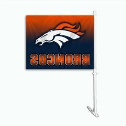 Denver Broncos Ombre Car Flag NFL NWT WINDOW FLAG Auto New