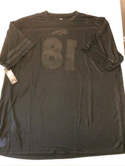 Denver Broncos Peyton Manning #18 Blackout NFL Majestic Jers
