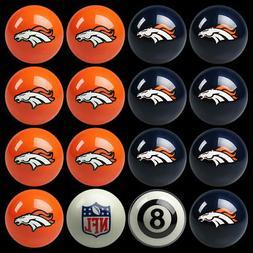 Denver Broncos Pool Ball Billiard Set FREE SHIPPING!