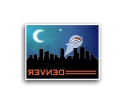 Denver Broncos Poster City Skyline Art Print Man Cave Decor