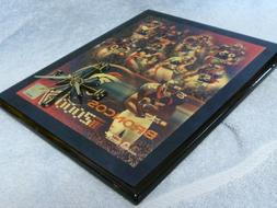 denver broncos rectangular varnished football wall clock
