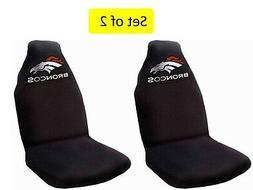 Denver Broncos Set of 2 Premium Embroidered Auto Seat Covers