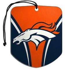 Denver Broncos Shield Design Air Freshener 2 Pack  NFL Fresh