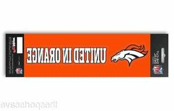 "Denver Broncos Slogan and Logo Die Cut Decal Stickers ""Unite"