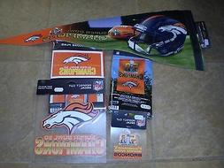 Denver Broncos Super Bowl 50 Champions FAN PACK MAN CAVE SPE