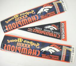 Denver Broncos Super Bowl XXXIII Champions Pennant and 2 Bum