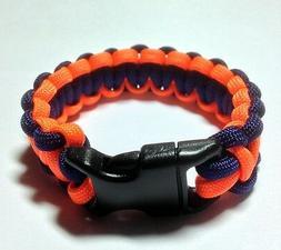 Denver Broncos Team Colors Paracord Bracelet - Orange and Bl