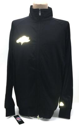 denver broncos track jacket black w reflective
