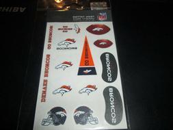 Denver Broncos Variety Pack Tattoo Set Sealed