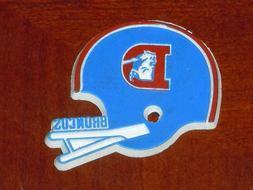 DENVER BRONCOS Vintage Old NFL RUBBER Football FRIDGE MAGNET