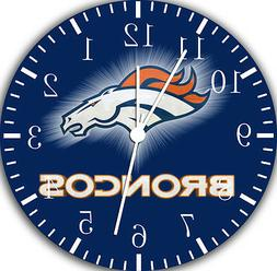 """Denver Broncos wall Clock 10"""" will be nice Gift and Room wal"""
