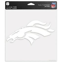 "DENVER BRONCOS WHITE LOGO CUT DECAL 8""X8"" SHEET PERFECT FOR"