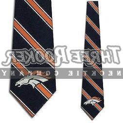 Denver Broncos Woven Striped Tie